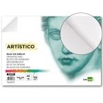 Liderpapel DA09 - Láminas de dibujo artístico, sin recuadro, bloc encolado, A2, 24 + 6 hojas, 120 gramos
