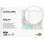 Liderpapel DE02 - Láminas de dibujo, con recuadro, bloc con espiral, folio, 20 hojas, 90 gramos