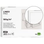Liderpapel DL08 - Láminas de dibujo lineal, con recuadro, bloc con espiral, folio, 20 hojas, 180 gramos