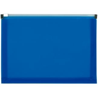 Liderpapel DS06 - Dossier con cremallera, A5, 180 micras, capacidad para 50 hojas, color azul translúcido