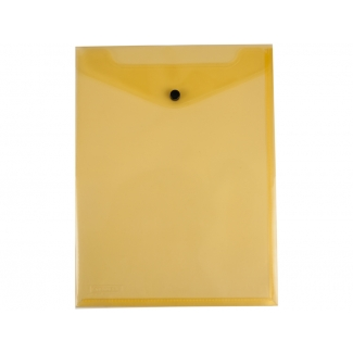 Liderpapel DS09 - Dossier con broche, A4 vertical, 180 micras, capacidad para 50 hojas, color amarillo transparente