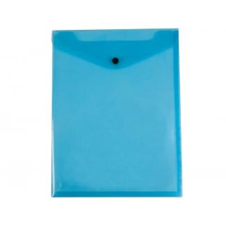 Liderpapel DS10 - Dossier con broche, A4 vertical, 180 micras, capacidad para 50 hojas, color azul transparente