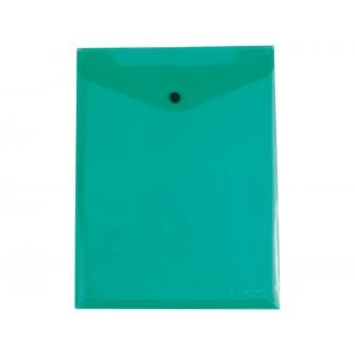 Liderpapel DS11 - Dossier con broche, A4 vertical, 180 micras, capacidad para 50 hojas, color verde transparente