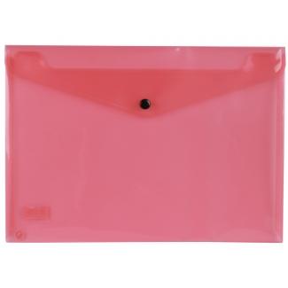 Liderpapel DS13 - Dossier con broche, A4, 180 micras, capacidad para 50 hojas, color rojo transparente