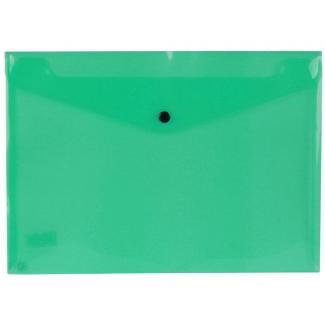 Liderpapel DS16 - Dossier con broche, A4, 180 micras, capacidad para 50 hojas, color verde transparente