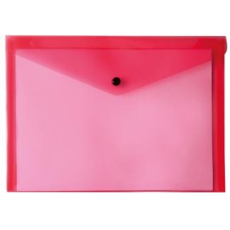 Liderpapel DS18 - Dossier con broche, A5, 180 micras, capacidad para 50 hojas, color rojo transparente