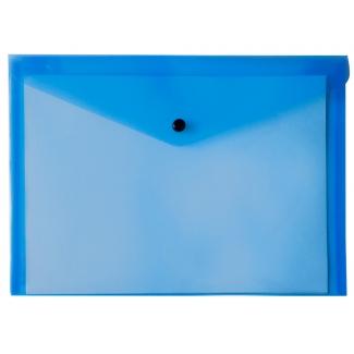 Liderpapel DS19 - Dossier con broche, A5, 180 micras, capacidad para 50 hojas, color azul transparente