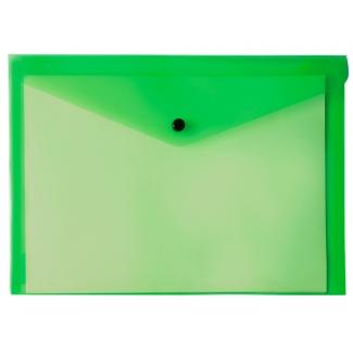 Liderpapel DS20 - Dossier con broche, A5, 180 micras, capacidad para 50 hojas, color verde transparente
