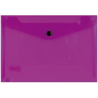 Liderpapel DS24 - Dossier con broche, A5, 180 micras, capacidad para 50 hojas, color violeta transparente frosty