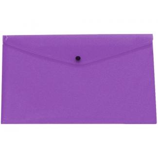 Liderpapel DS33 - Dossier con broche, A3, 180 micras, capacidad para 50 hojas, color violeta transparente frosty