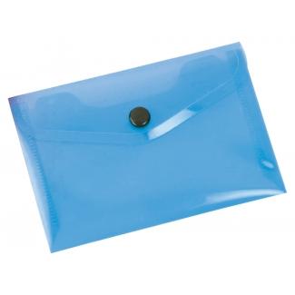 Liderpapel DS35 - Dossier con broche, A6, 180 micras, capacidad para 50 hojas, color azul transparente frosty