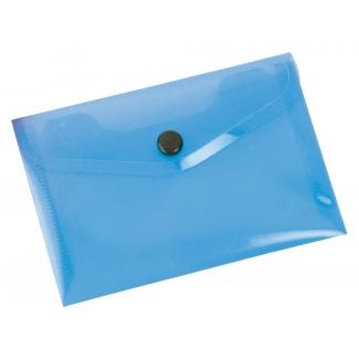 Liderpapel DS40 - Dossier con broche, A7, 180 micras, capacidad para 50 hojas, color azul transparente frosty
