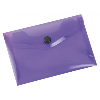 Liderpapel DS43 - Dossier con broche, A7, 180 micras, capacidad para 50 hojas, color violeta transparente frosty