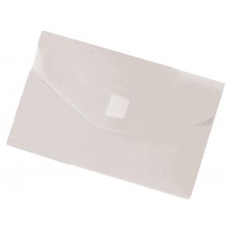 Liderpapel DS47 - Dossier con velcro, A8, 180 micras, capacidad para 50 hojas, transparente