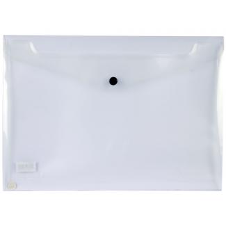 Liderpapel DS56 - Dossier con broche, 26 x 14 cm, 180 micras, capacidad para 50 hojas, transparente