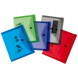 Liderpapel DS59 - Dossier con broche, A6, 180 micras, capacidad para 50 hojas, colores surtidos, paquete de 12