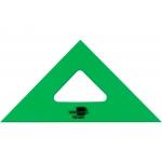 Liderpapel ES01 - Escuadra acrílica, sin graduación, hipotenusa de 16 cm, color verde