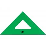 Liderpapel ES04 - Escuadra acrílica, sin graduación, hipotenusa de 25 cm, color verde