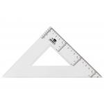 Liderpapel ES05 - Escuadra de plástico, hipotenusa de 25 cm, transparente
