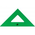 Liderpapel ES06 - Escuadra acrílica, sin graduación, hipotenusa de 28 cm, color verde