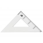 Liderpapel ES07 - Escuadra de plástico, hipotenusa de 30 cm, transparente