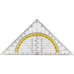 Liderpapel ES09 - Escuadra de geometría, plástico, hipotenusa 16 cm, transparente