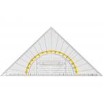 Liderpapel ES11 - Escuadra de geometría, plástico, hipotenusa 22 cm, transparente