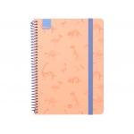 Liderpapel Fantasía Dino - Agenda escolar, 2020-2021, tamaño A5, impresión semana vista, tapa cartón laminado, encuadernada con espiral, cierre con goma, color naranja