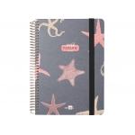 Liderpapel Fantasía Estrellas - Agenda escolar, 2021-2022, tamaño A5, impresión día página, tapa cartón laminado, encuadernada con espiral, cierre con goma