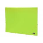 Liderpapel GC14 - Carpeta de plástico con gomas, con tres solapas, lomo flexible, tamaño A4, color amarillo fluorescente opaco