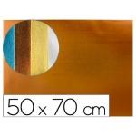 Liderpapel GE87 - Goma eva, espesor de 2 mm, 50 cm x 70 cm, metalizada, naranja