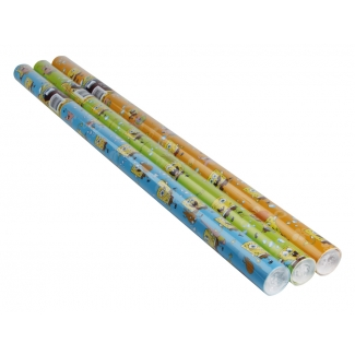 Liderpapel GW-11603 - Papel fantasia, rollo de 70 cm x 2 m, 60 gramos, bob esponja