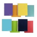 Liderpapel Jolly BA99 - Bloc espiral, tamaño A4, tapa extradura, 140 hojas de 75 gr, multidisciplina, microperforado, colores surtidos