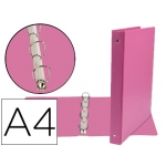 Liderpapel KA02 - Carpeta de anillas, 4 anillas mixtas de 25 mm, plástico, tamaño A4, color fucsia