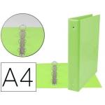 Liderpapel KA09 - Carpeta de anillas, 4 anillas mixtas de 40 mm, plástico, tamaño A4, color verde pistacho