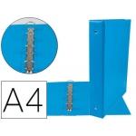 Liderpapel KA12 - Carpeta de anillas, 4 anillas mixtas de 40 mm, plástico, tamaño A4, color celeste