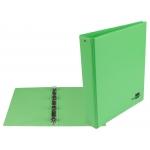 Liderpapel KA15 - Carpeta de anillas, 4 anillas redondas de 25 mm, plástico, tamaño A5, color verde pistacho