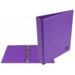Liderpapel KA16 - Carpeta de anillas, 4 anillas redondas de 25 mm, plástico, tamaño A5, color lila