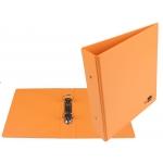 Liderpapel KA19 - Carpeta de anillas, 2 anillas redondas de 40 mm, plástico, tamaño A5, color naranja