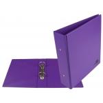 Liderpapel KA22 - Carpeta de anillas, 2 anillas redondas de 40 mm, plástico, tamaño A5, color lila