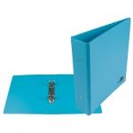 Liderpapel KA24 - Carpeta de anillas, 2 anillas redondas de 40 mm, plástico, tamaño A5, color celeste