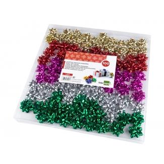 Liderpapel LZ01 - Lazo para regalo, tamaño pequeño, colores surtidos metalizados