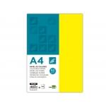 Liderpapel PC48 - Papel de color, A4, 80 gramos, color amarillo, paquete de 100 hojas