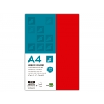 Liderpapel PC58 - Papel de color, A4, 80 gramos, color rojo, paquete de 100 hojas