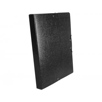 Liderpapel PJ34 - Carpeta de proyectos con gomas, tamaño folio, lomo de 30 mm, color negro
