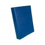 Liderpapel PJ52 - Carpeta de proyectos con gomas, tamaño folio, lomo de 50 mm, color azul