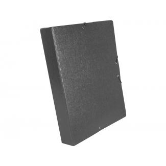 Liderpapel PJ53 - Carpeta de proyectos con gomas, tamaño folio, lomo de 50 mm, color gris