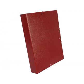 Liderpapel PJ55 - Carpeta de proyectos con gomas, tamaño folio, lomo de 50 mm, color rojo