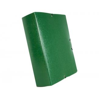 Liderpapel PJ76 - Carpeta de proyectos con gomas, tamaño folio, lomo de 70 mm, color verde