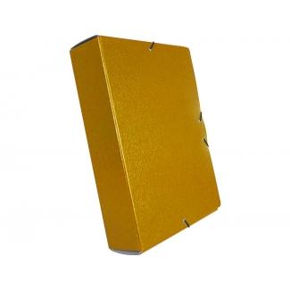 Liderpapel PJ91 - Carpeta de proyectos con gomas, tamaño folio, lomo de 90 mm, color amarillo